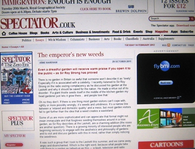 Spectator - The Emperor's New Weeds