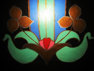 Door painting  by Anne Wareham